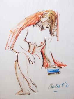1971 nudo - olio 50 x 65